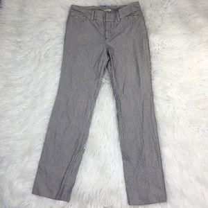 Zara Women's Size 6 White Blue Striped Dress Pants
